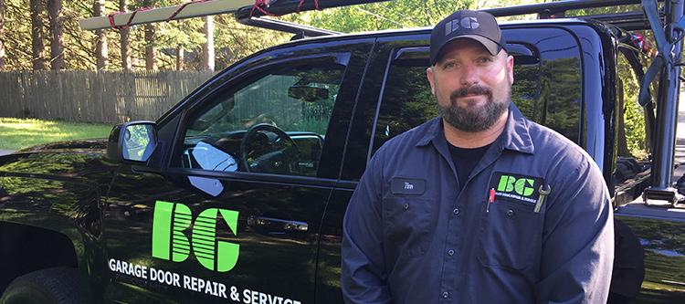 Garage Door Service Man