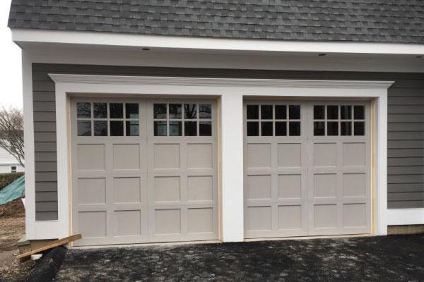 New Construction Garage Door Installation